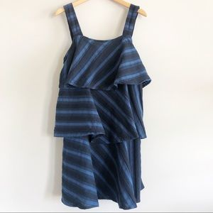 Ace & Jig Simone Dress Striped Tiered Dress Blue